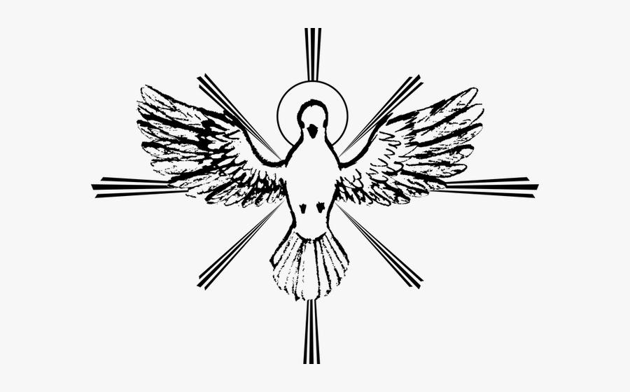 Holy Spirit Black And White, Transparent Clipart
