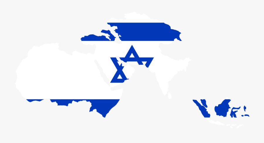 Israel Flag Vector - Greater Israel Flag Map, Transparent Clipart
