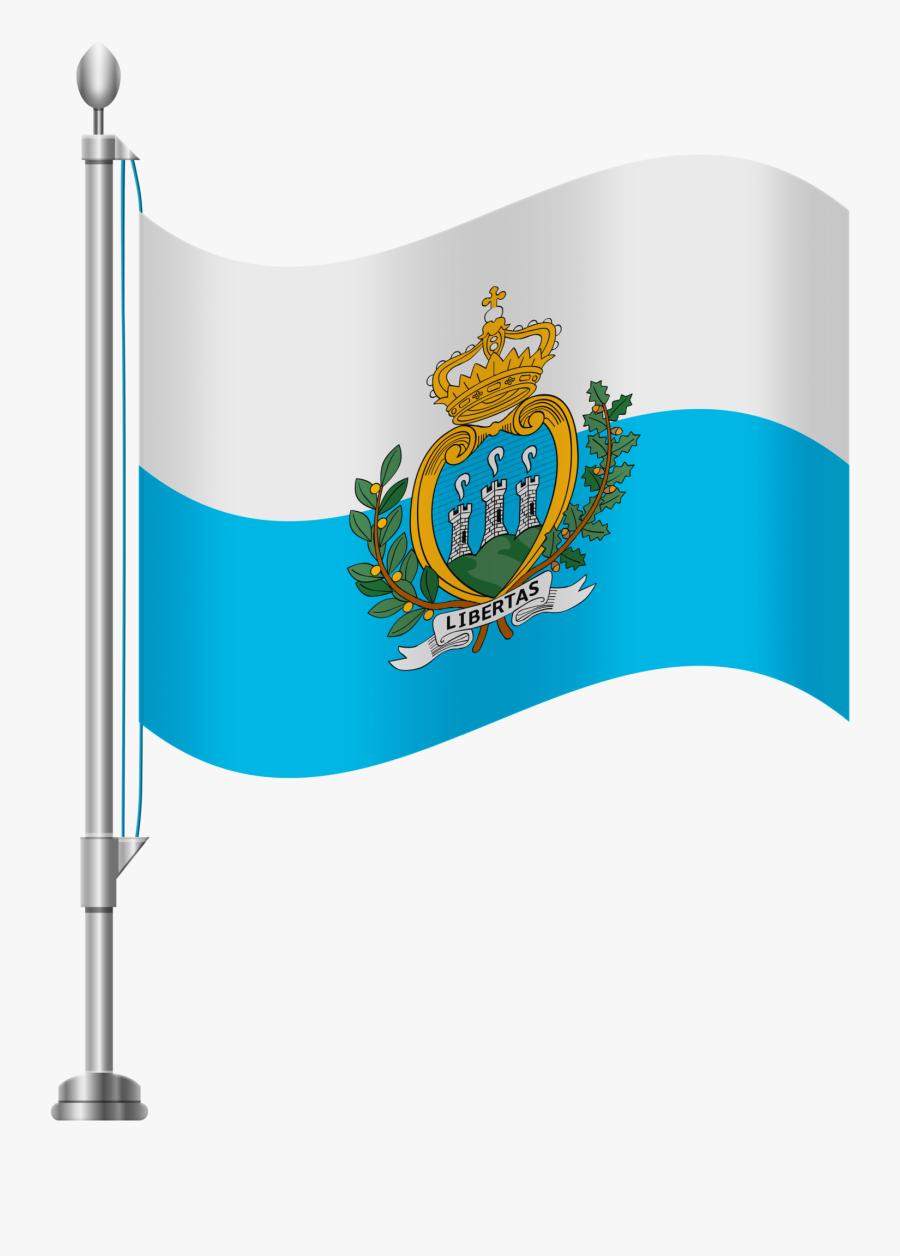 San Marino Flag Png Clip Art - Portugal Flag Png, Transparent Clipart