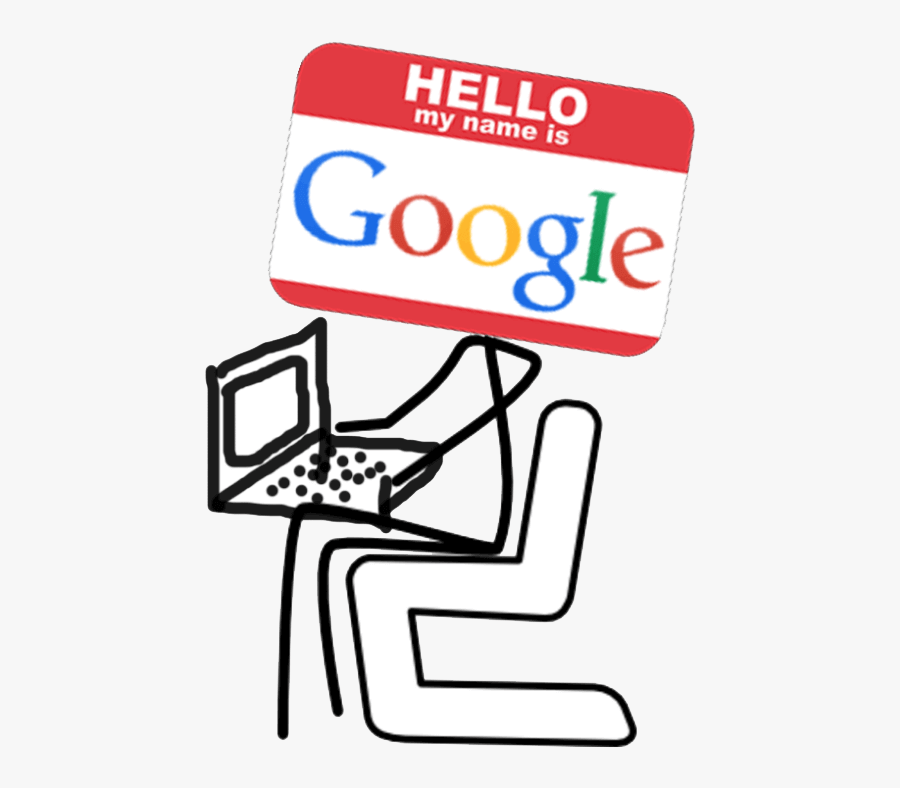 "Hello, I""m Googlebot - Stick Figure Sitting Down, Transparent Clipart"