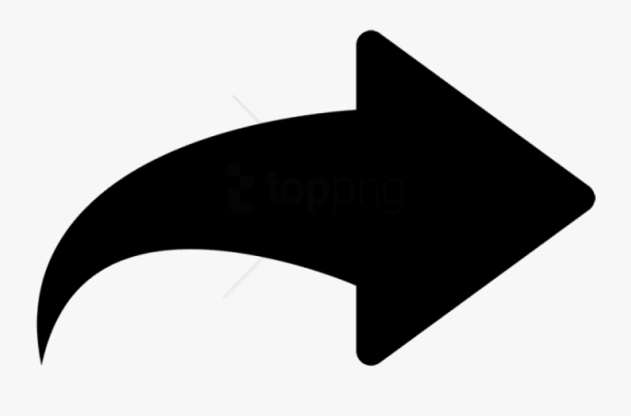 Free Png Arrow Icon In Flat Style - Turning Right Arrow Symbol, Transparent Clipart
