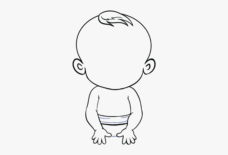 Clip Art Collection Of Free Drawing - Draw A Baby Easy, Transparent Clipart