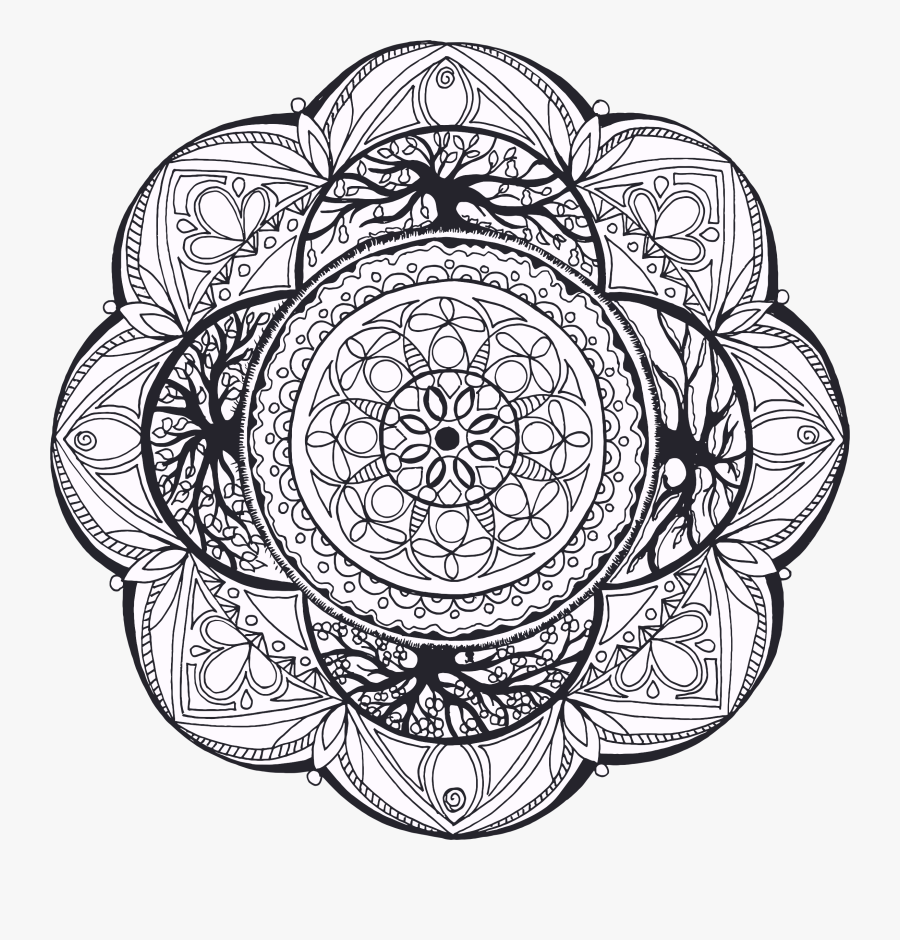 This Free Icons Png Design Of Hand Drawn- - Hand Drawn Mandala Png, Transparent Clipart