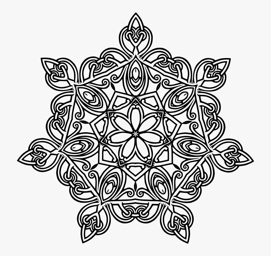 Mandala Flower Geometric Design, Transparent Clipart