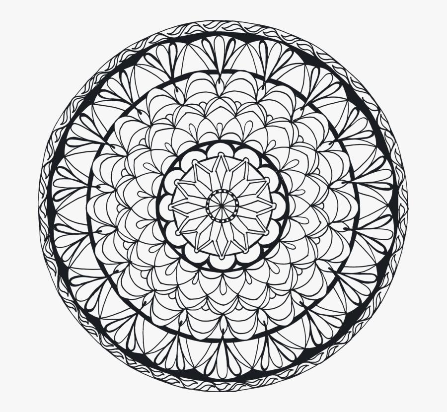 Line Art,symmetry,area - Mandala Drawing Png Transparent, Transparent Clipart