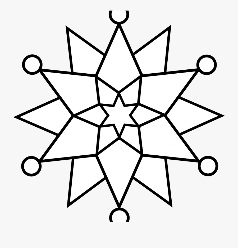 Christmas Mandala With Angels Coloring Page Fine Snowflake ...