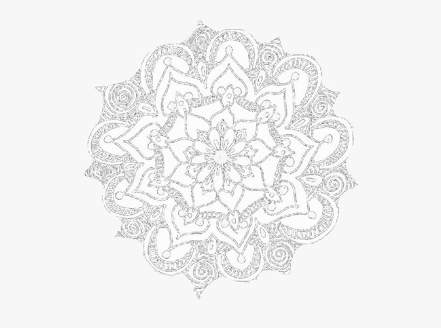 Transparent Mandala Overlay Png - Transparent Background Mandala Png White, Transparent Clipart