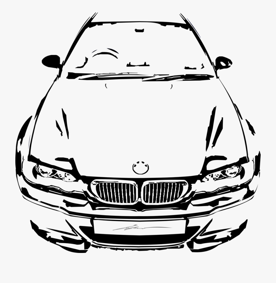 Graphic Royalty Free Bmw Drawing E46 M3 - Graphics Bmw T Shirts, Transparent Clipart