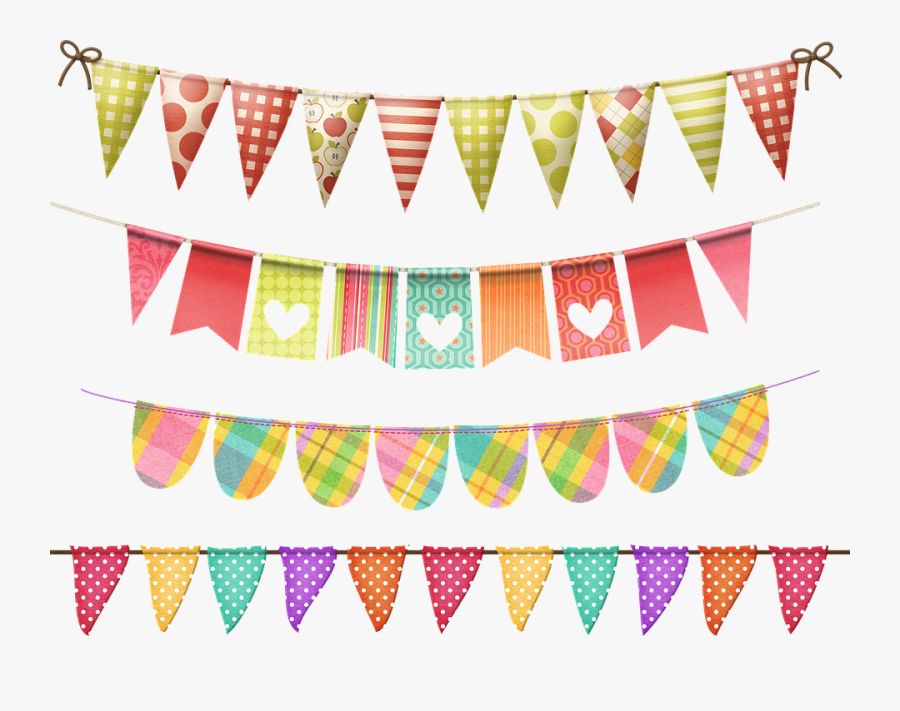 Bunting, Banners, Decoration, Party, Celebration - Flag, Transparent Clipart