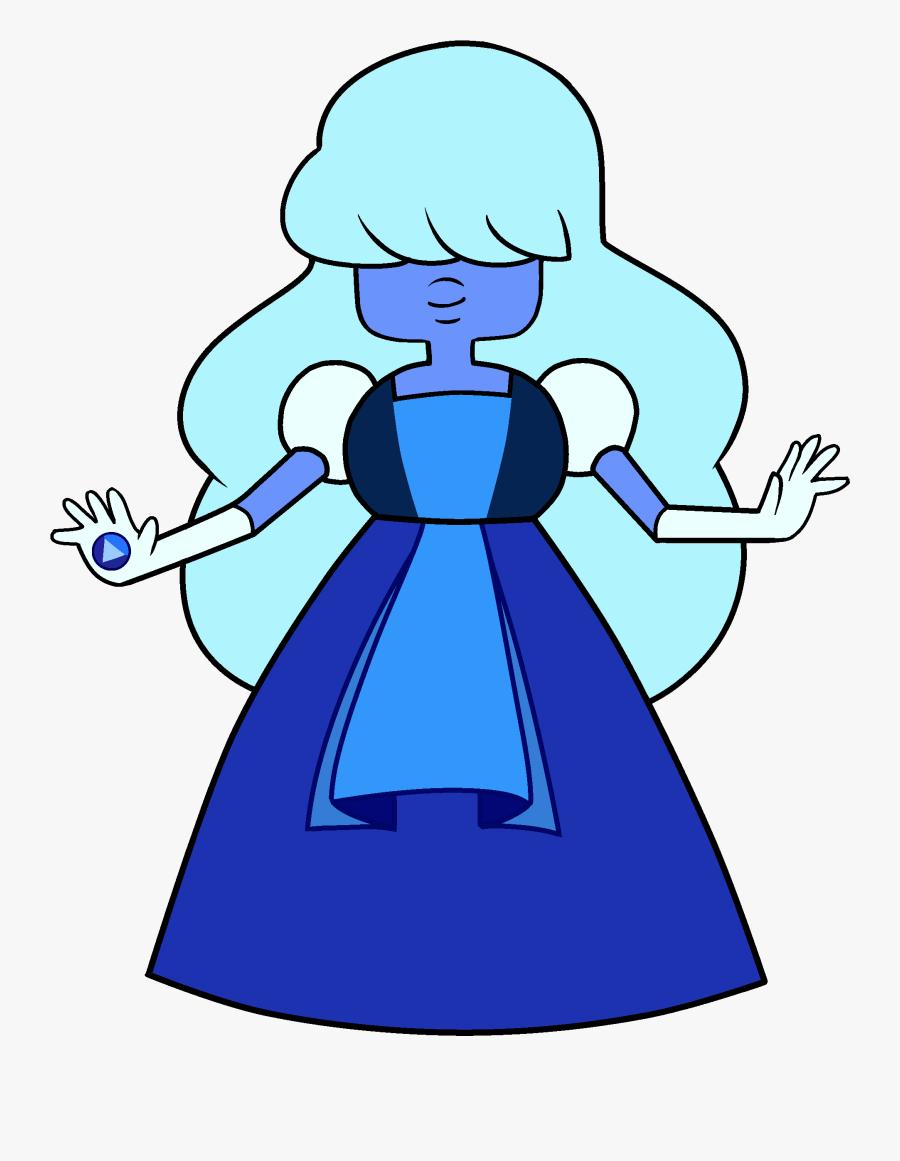 New Template Image - Sapphire Steven Universe Characters, Transparent Clipart