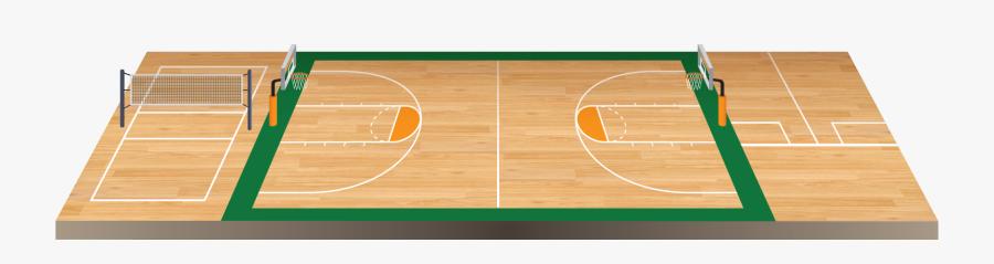 Basket Ball Floor Png - Basketball Court, Transparent Clipart