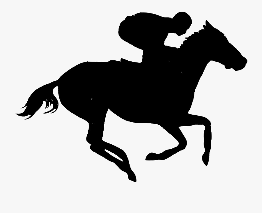 Horse Silhoutte - Horse Racing Clipart, Transparent Clipart