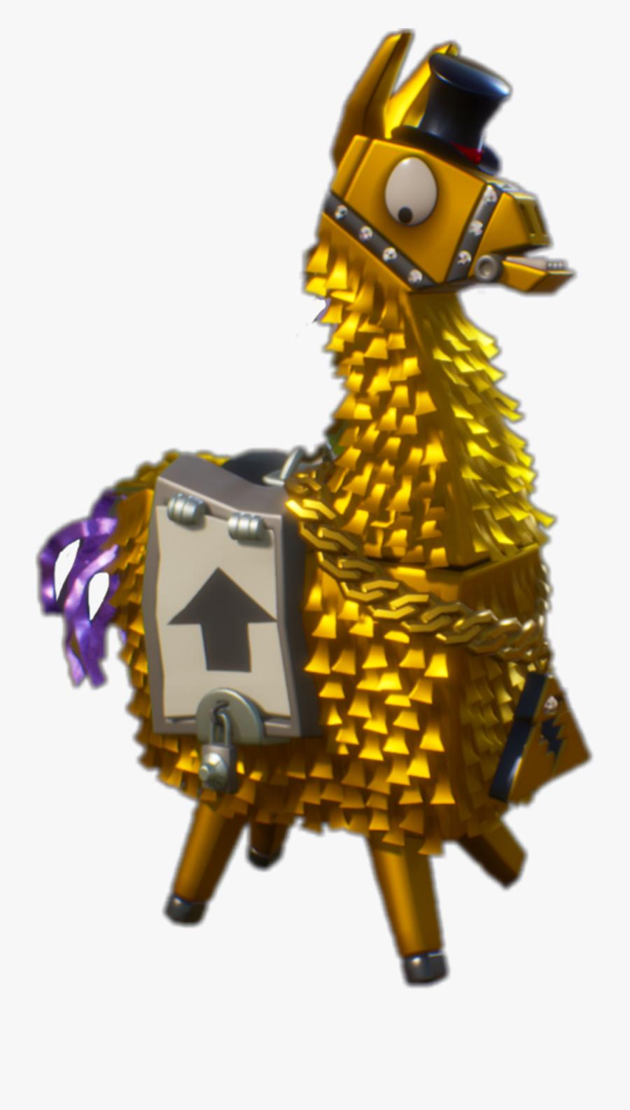 Llama Clipart Fortnite Fortnite Gold Llama Png Free Transparent Clipart Clipartkey