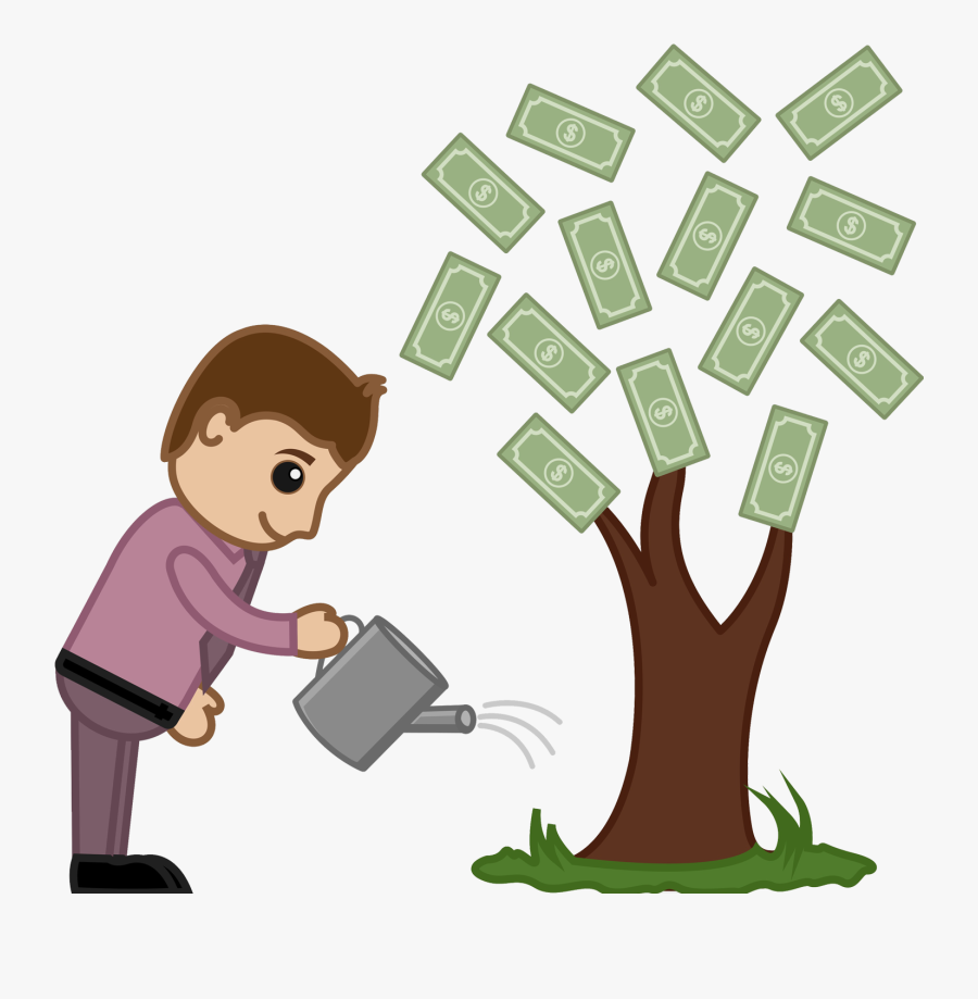 1) Reduce The Man Hours By 20% 2) Cut Down The Hardware - Watering Money Tree Clipart, Transparent Clipart