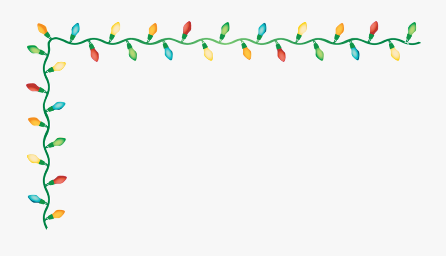 Graphic, Christmas Light Border, Seamless, Transparent Clipart