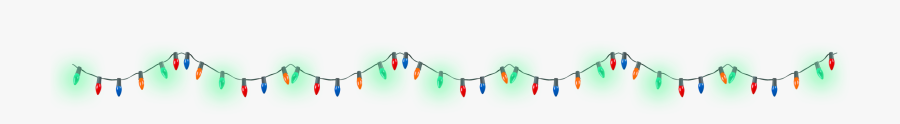 Christmas Lights Twitch Overlay, Transparent Clipart