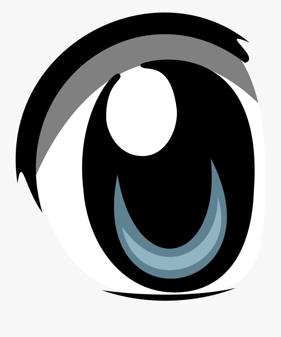 Symbol,eye,circle,black And White,logo,font,clip Art - Anime Eyes Transparent Background, Transparent Clipart