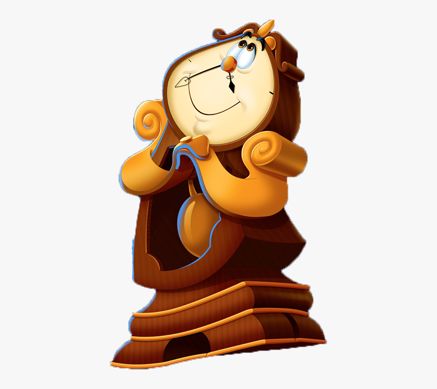 Beauty And The Beast Animated Cogsworth, Transparent Clipart