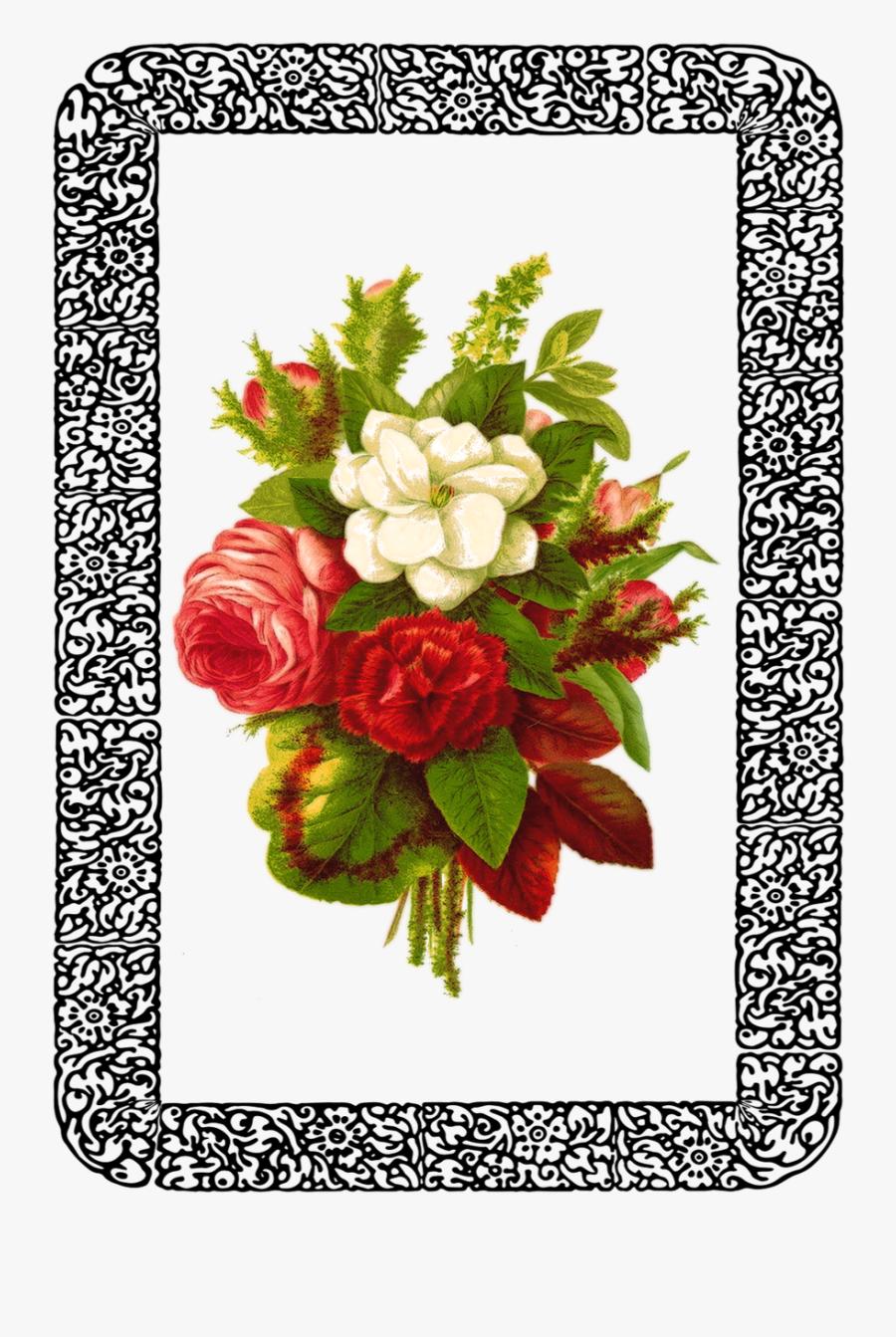 Vintage Rose Bouquet - Bouquet Flower Design Png, Transparent Clipart