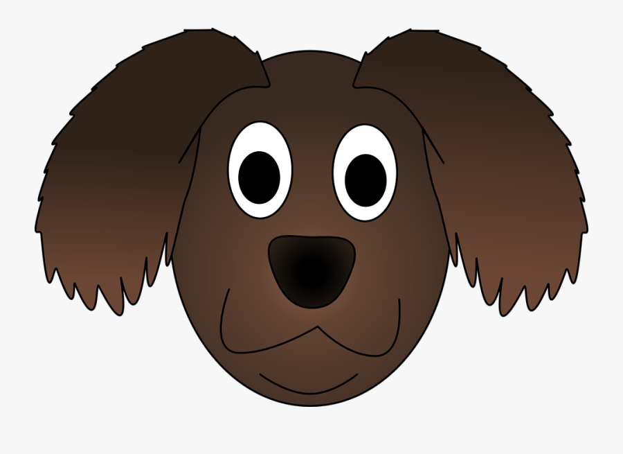 Adorable Clipart Brown Puppy - Dog Head Animation Png, Transparent Clipart