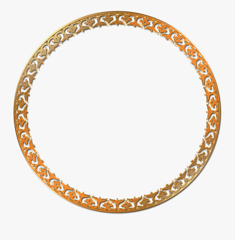 Round Photo Frame Png Transparent Image - Circle Gold Transparent Background, Transparent Clipart