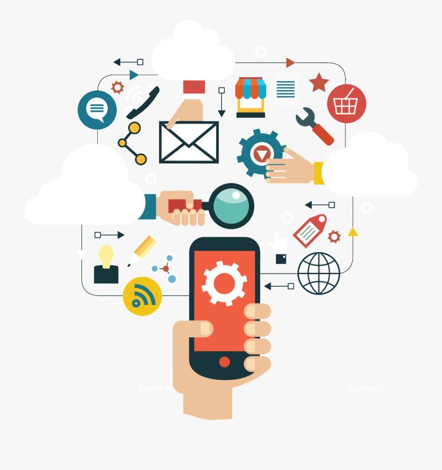 Transparent Distribution Channels Clipart - Mobile Cloud Computing, Transparent Clipart