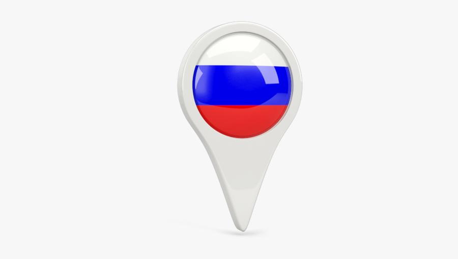 Russian Flag Pin Png - Circle, Transparent Clipart