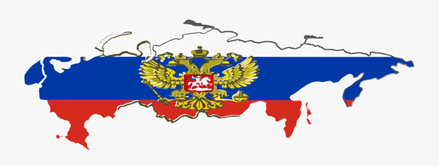 Russia Vector National - Russian Empire Flag Map, Transparent Clipart