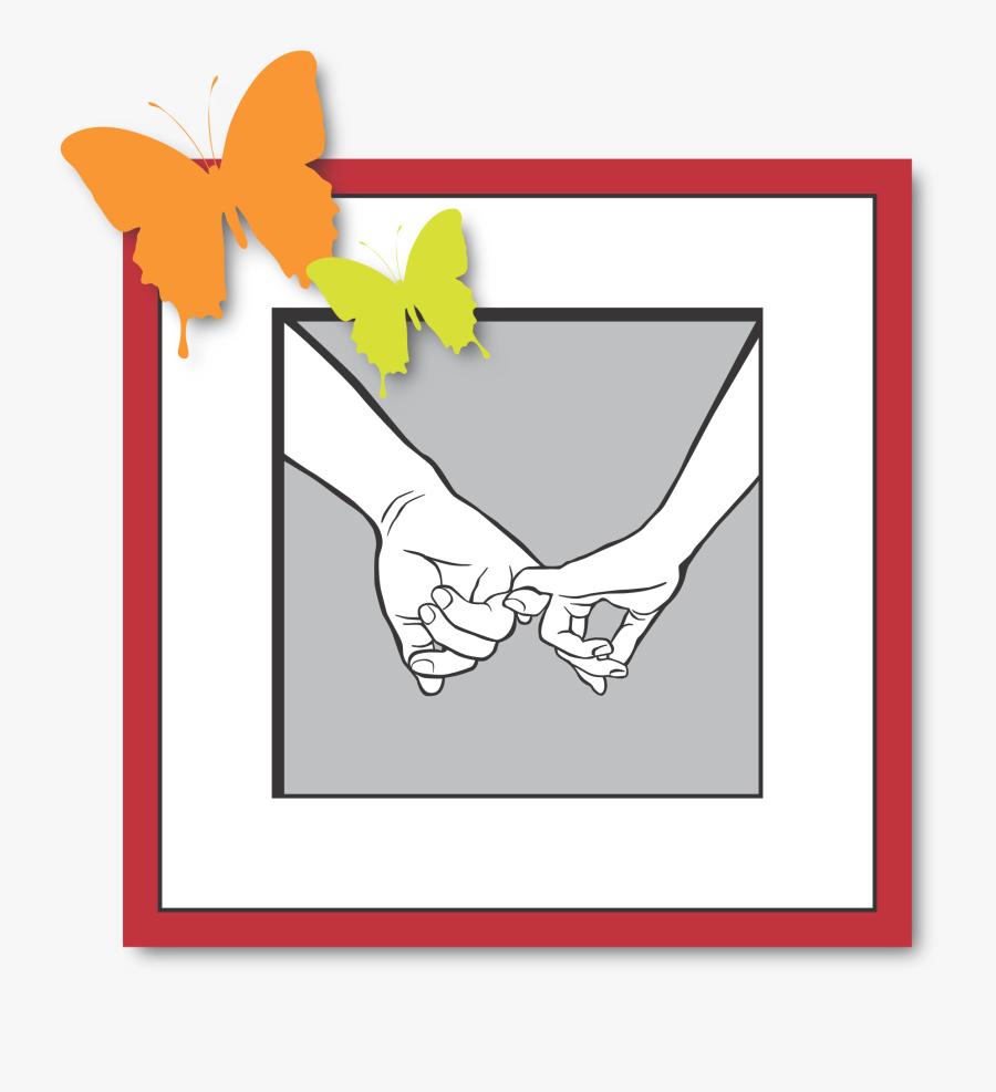 Love Hands Keep Butterfly Png Image - Vẽ Tay Hình Móc Ngoéo, Transparent Clipart