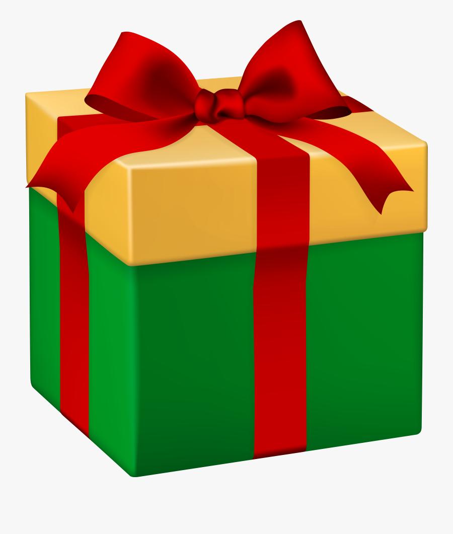 Green Gift Box Clipart, Transparent Clipart