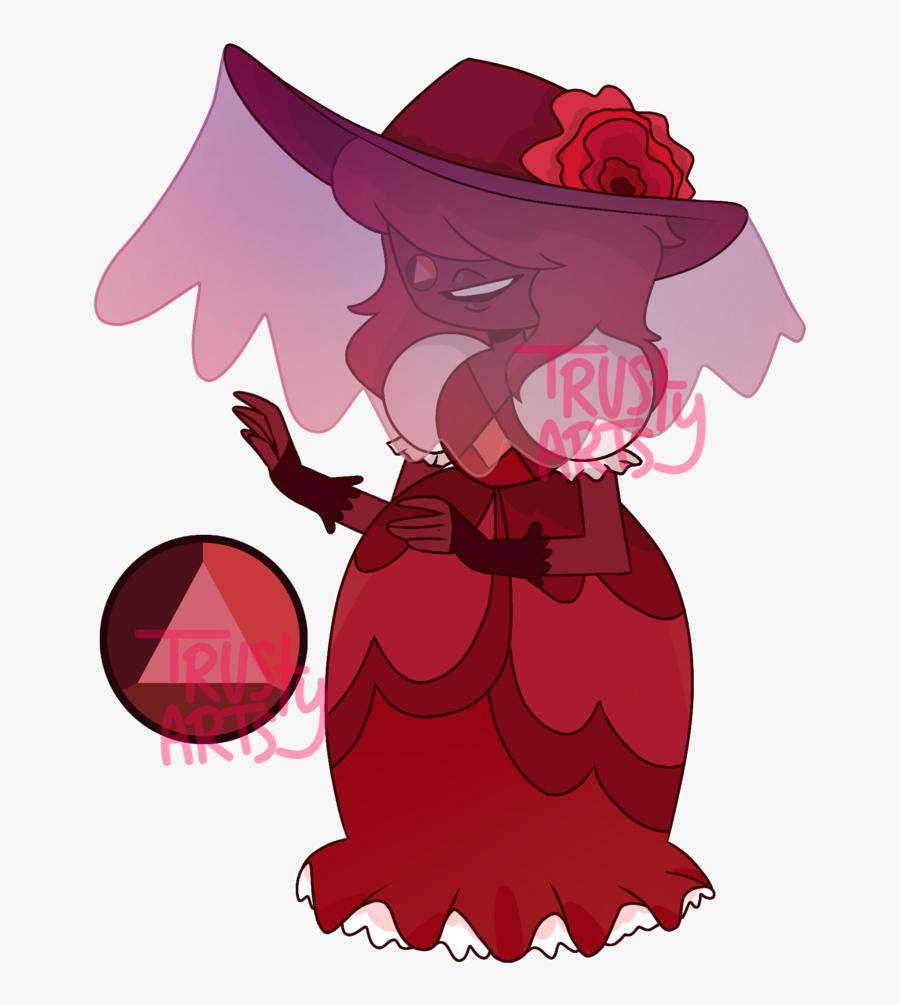 Transparent Ruby Clipart - Steven Universe Red Sapphire, Transparent Clipart