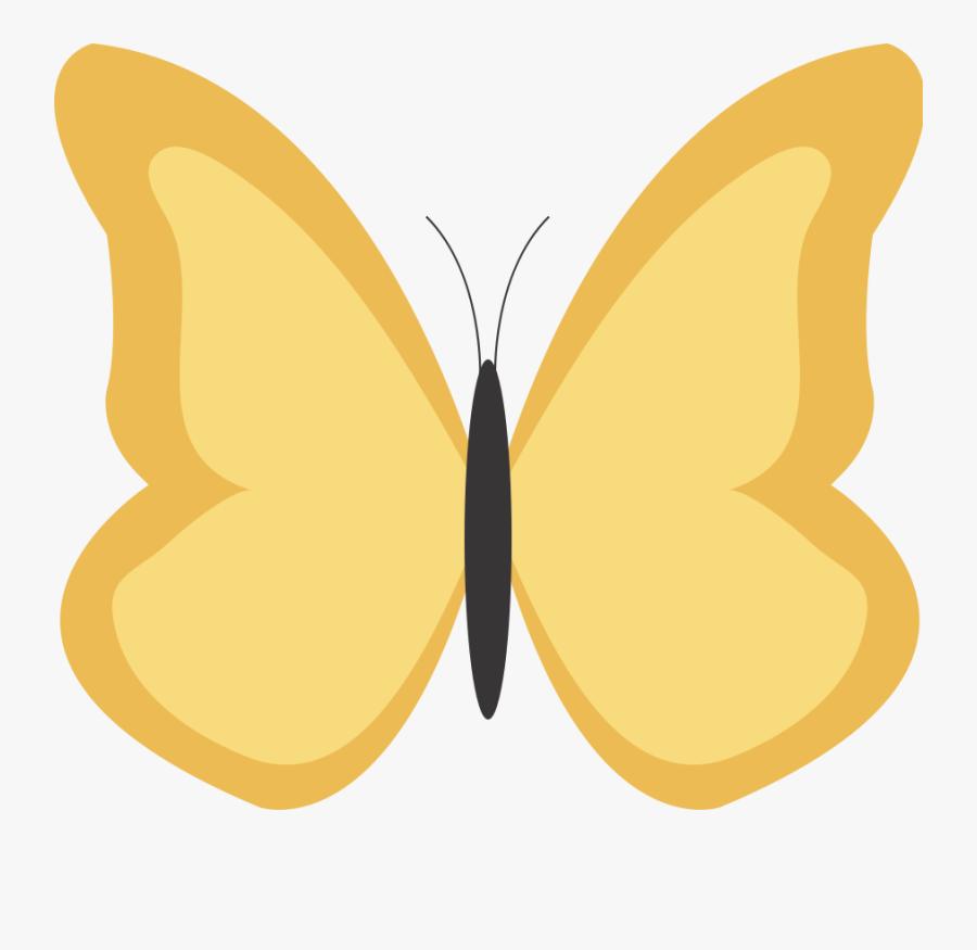 Yellow Butterfly Clipart - Gold Butterfly Cartoon, Transparent Clipart