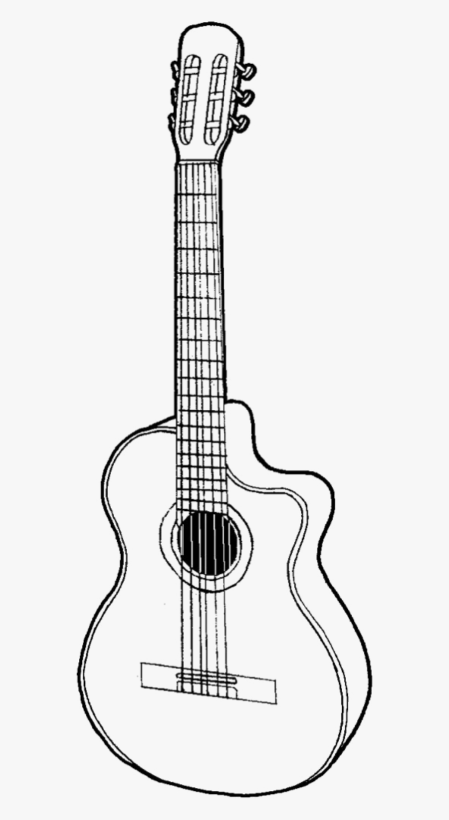 Guitar Draw Drawing Scrapbook Scrapbooking Design Guitar Pencil Drawings Free Transparent Clipart Clipartkey