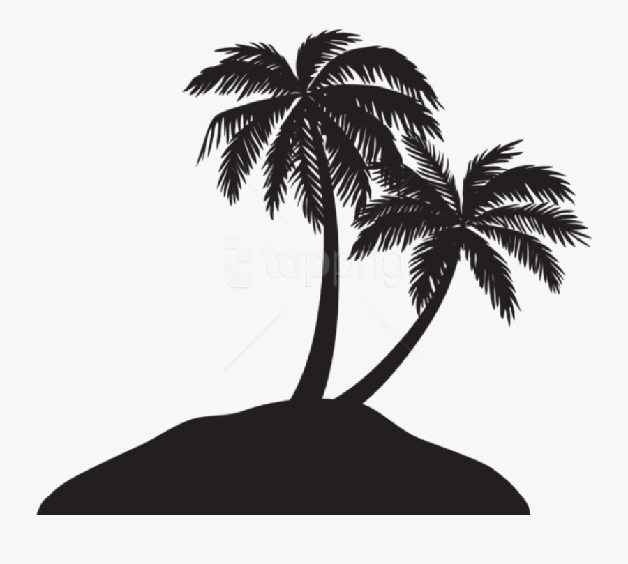 Palm Tree Clipart High Resolution - Palm Tree Silhouette Png, Transparent Clipart