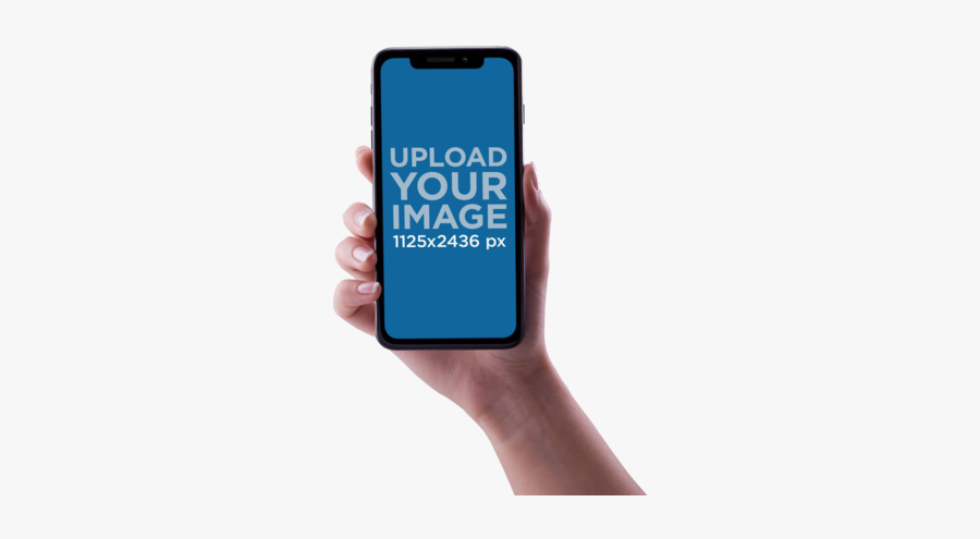 Hand Holding Iphone Png - Hand Iphone X Png, Transparent Clipart