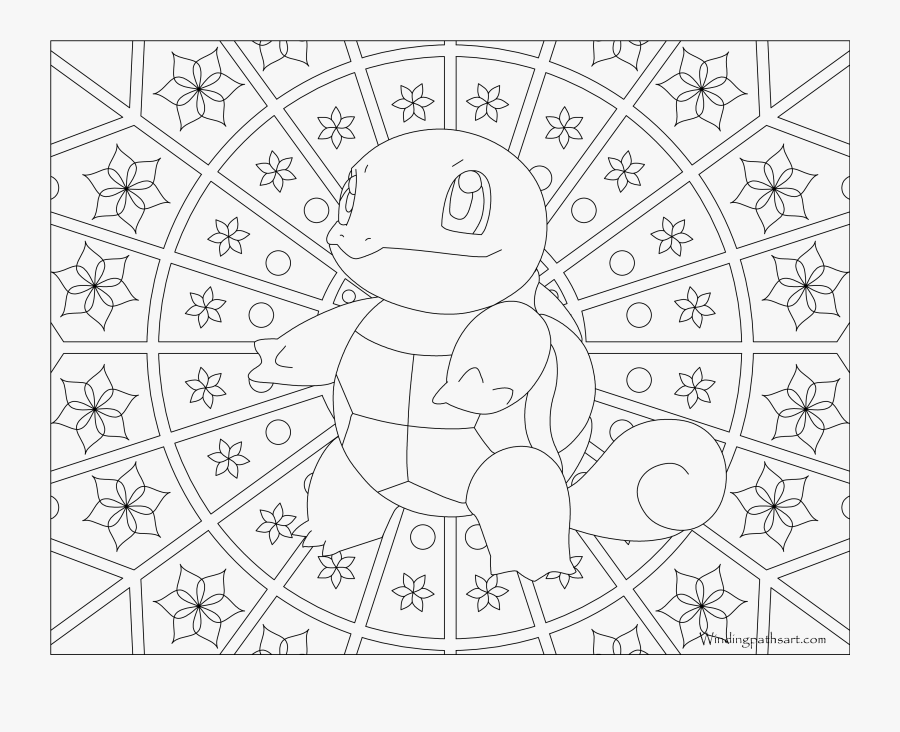 007 Squirtle Pokemon Coloring Page - Pokemon Adult Coloring Pages, Transparent Clipart