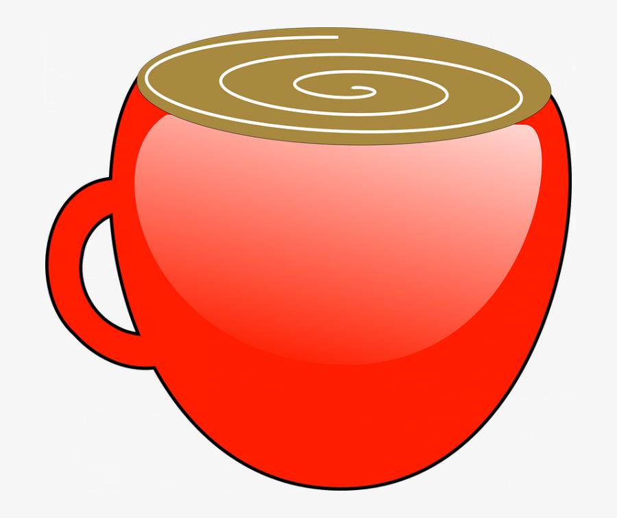 Transparent Chocolate Vector Png - Red Hot Chocolate Mug Clip Art, Transparent Clipart