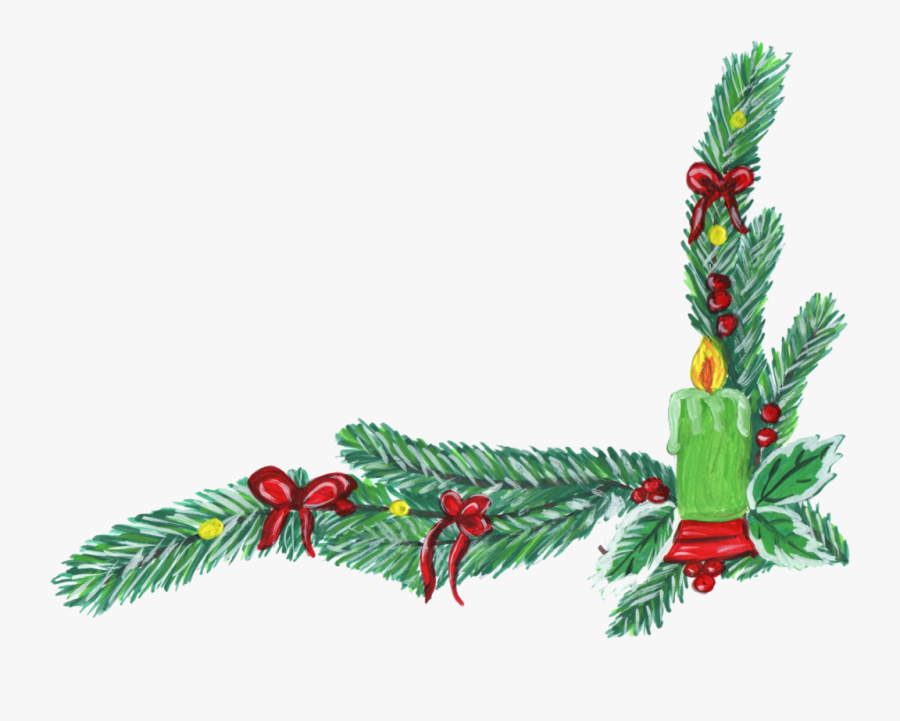 Christmas Corner Decoration - Christmas Clipart Transparent Corner, Transparent Clipart