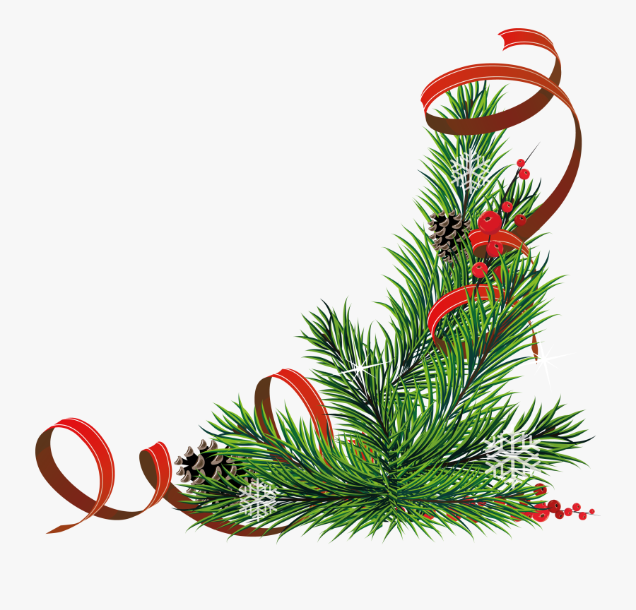 Christmas Corners Png, Transparent Clipart
