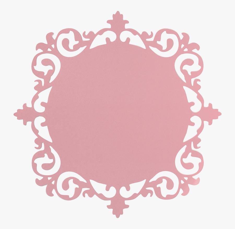Frame Pink X Cardstock Paper Crafts Cutting - Pink Circle Frame Png, Transparent Clipart