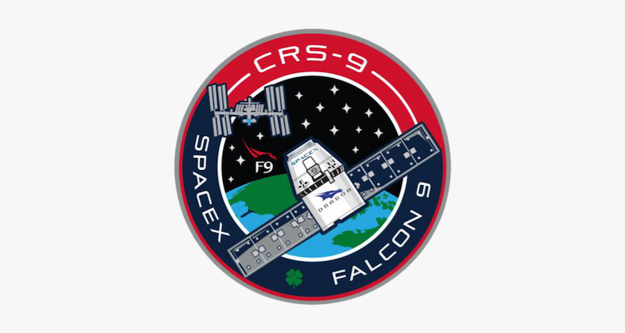 Spacex Crs 9 Mission Patch, Transparent Clipart