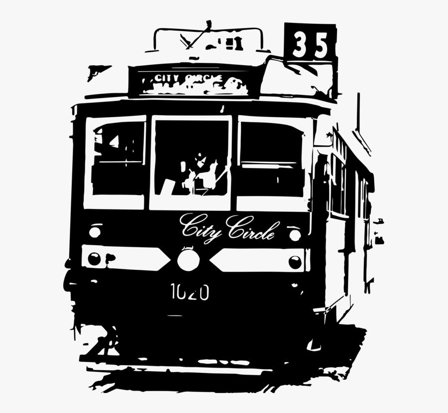 Monochrome Photography,car,brand - City Circle Tram, Transparent Clipart