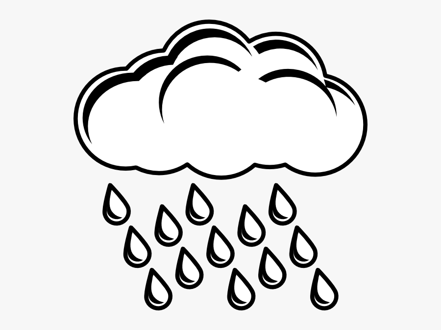 Clipart Rain Percipitation - Thunder And Lightning Coloring, Transparent Clipart