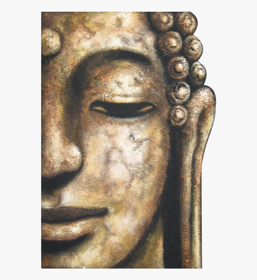 Drawing Buddha Half Face - Buddha Face Oil Paintings, Transparent Clipart