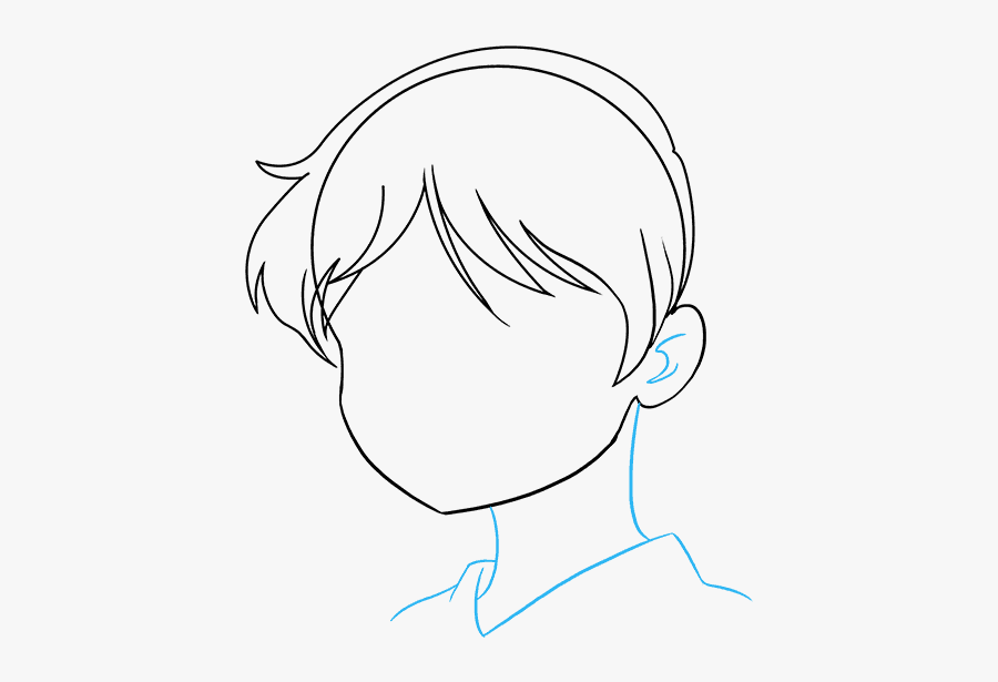 Drawing Paint Face - Anime Girl Drawing Face, Transparent Clipart