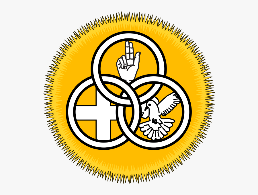 Filesociety Of Our Lady Of The Most Holy Trinity Badge - Holy Trinity Catholic Symbol, Transparent Clipart
