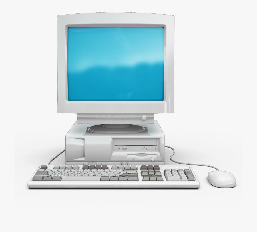 Transparent Old Computer Clipart - Old Desktop Computer Png, Transparent Clipart