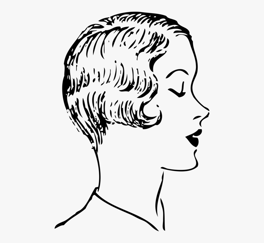 Emotion,hairstyle,art - Art Side Profile Woman, Transparent Clipart