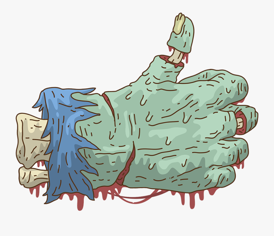 #hand #zombie #like #dripping #drippy #drip #blood - Para Stickers Png, Transparent Clipart
