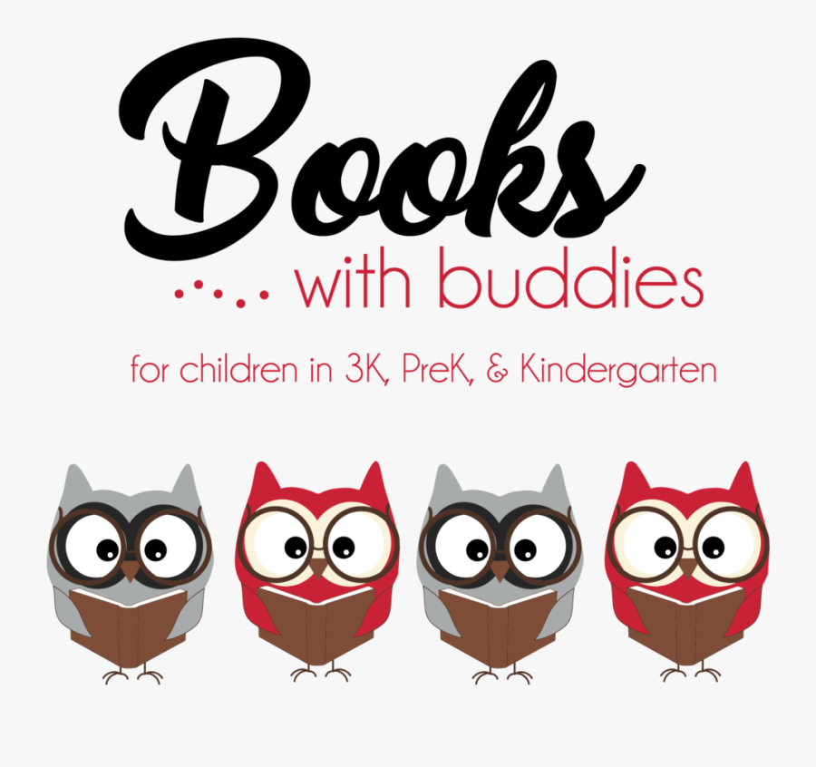 Books With Buddies February - Books And Buddies, Transparent Clipart